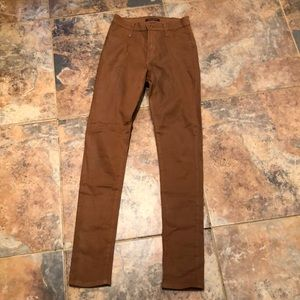 James jeans waxed skinny jeans in copper